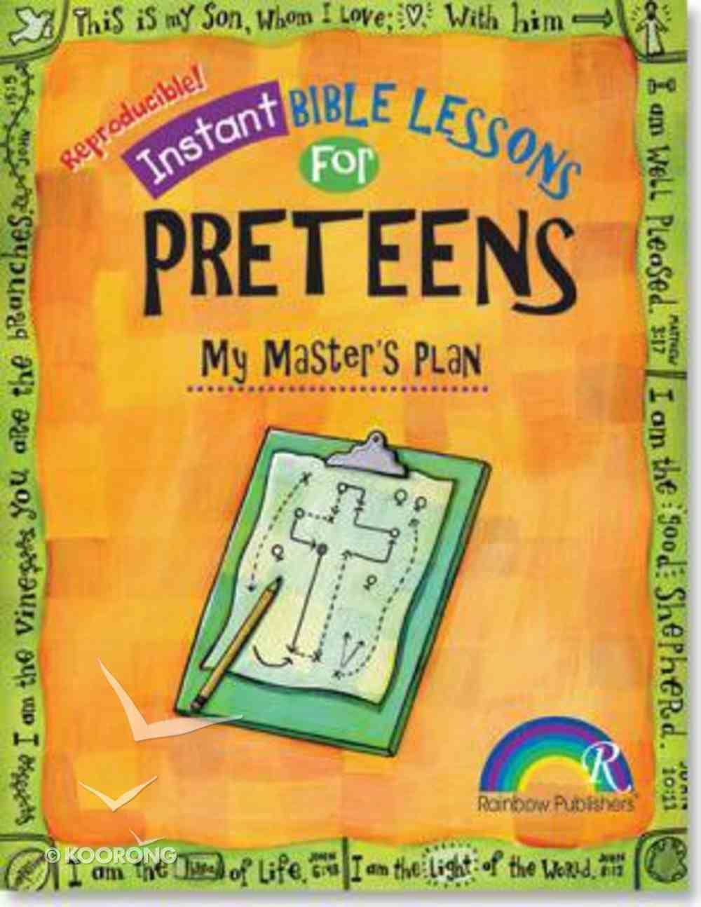 My Master's Plan (Ages 10-12) (Instant Bible Lessons Series) Paperback
