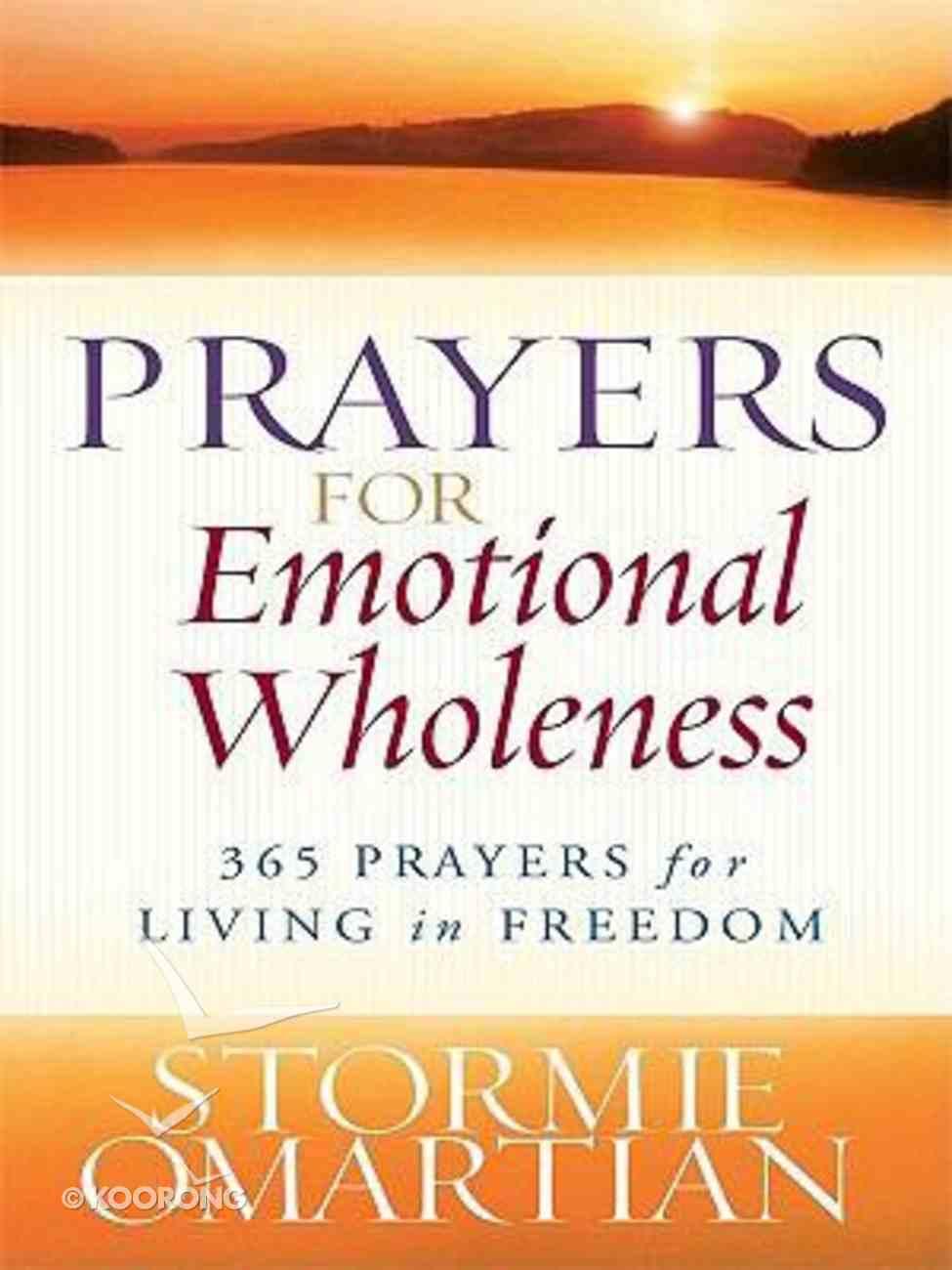 Prayers For Emotional Wholeness (Large Print) Paperback