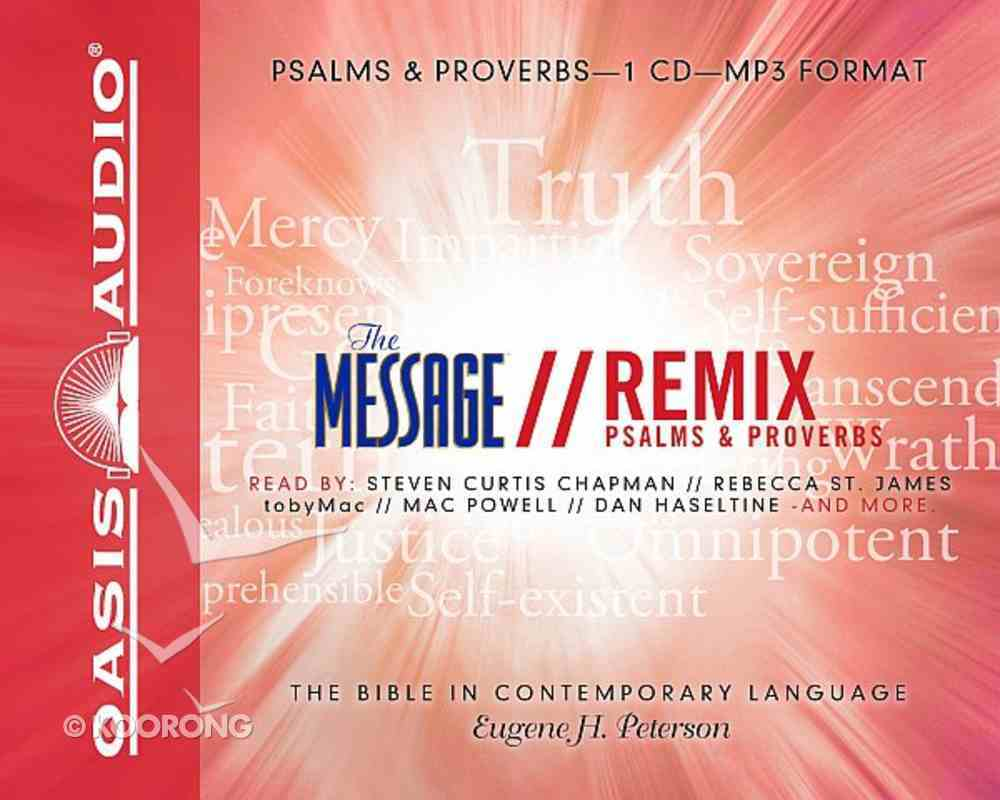 Message Remix Psalms and Proverbs MP3 (Unabridged) CD