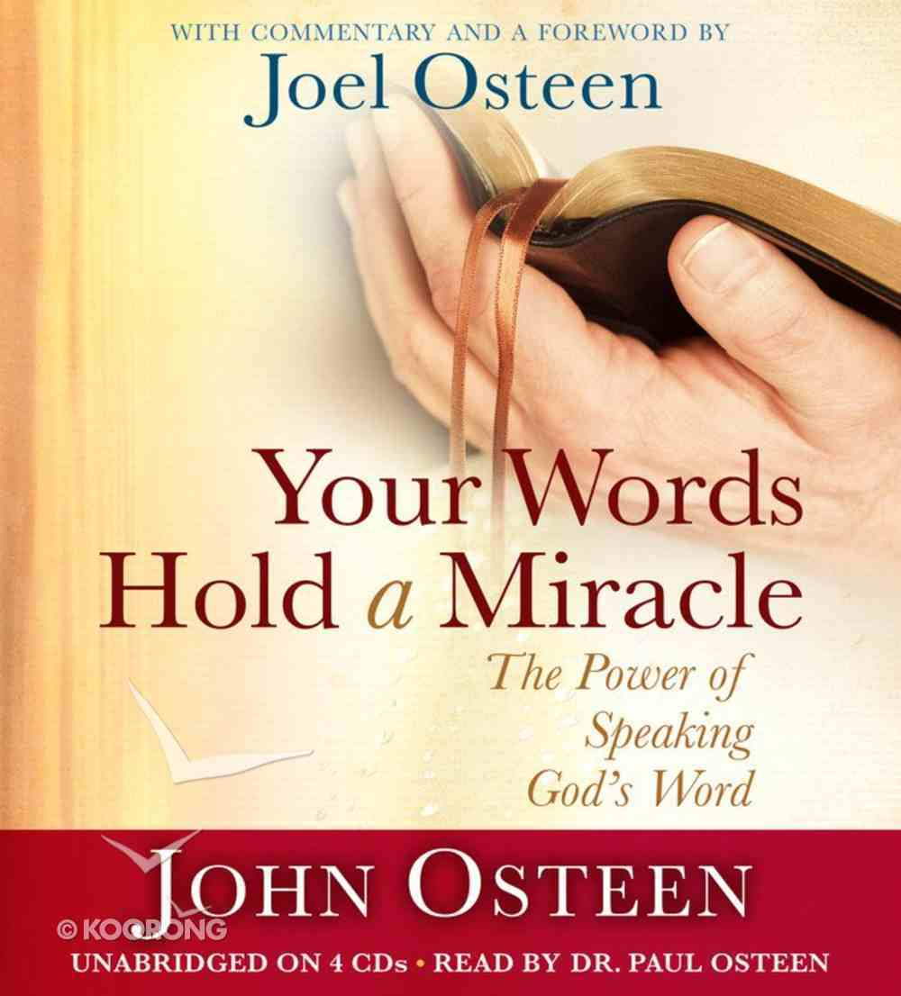 Your Words Hold a Miracle (Unabridged) CD