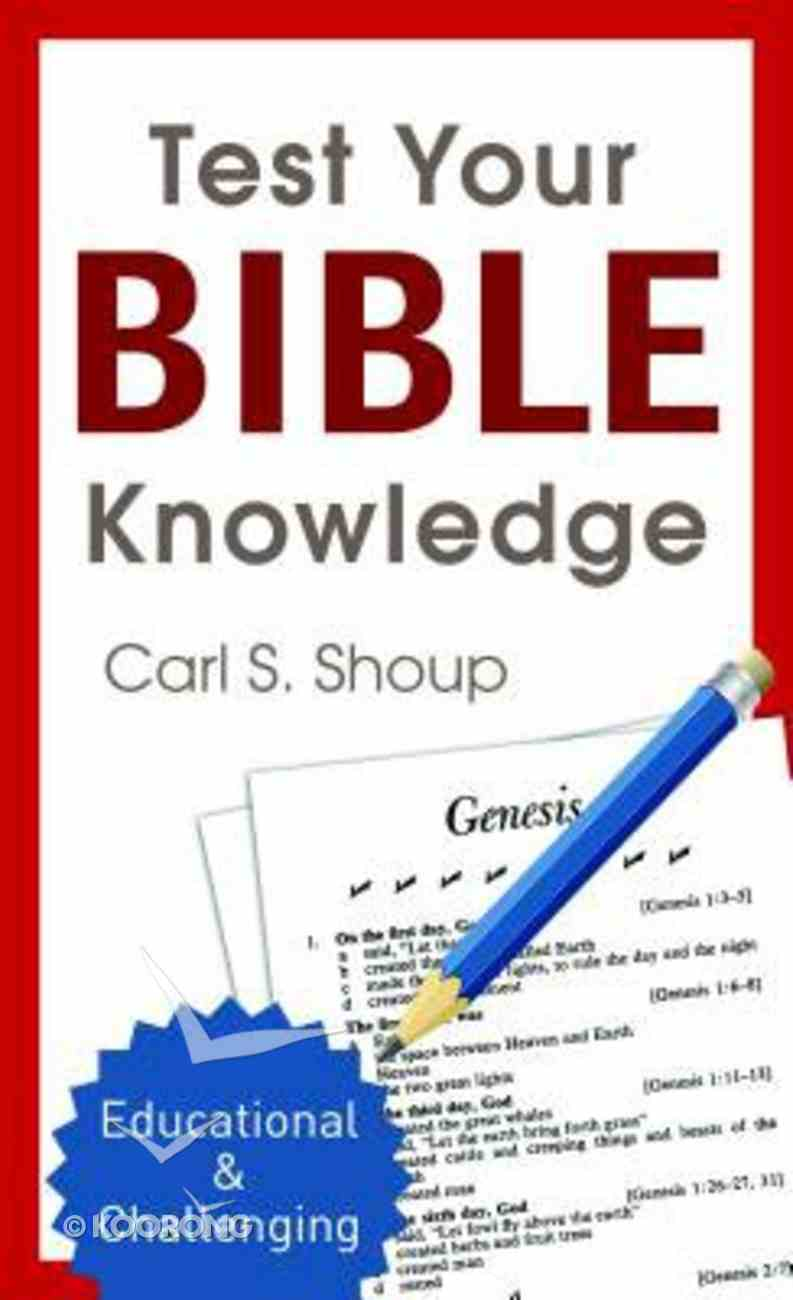 Test Your Bible Knowledge Mass Market