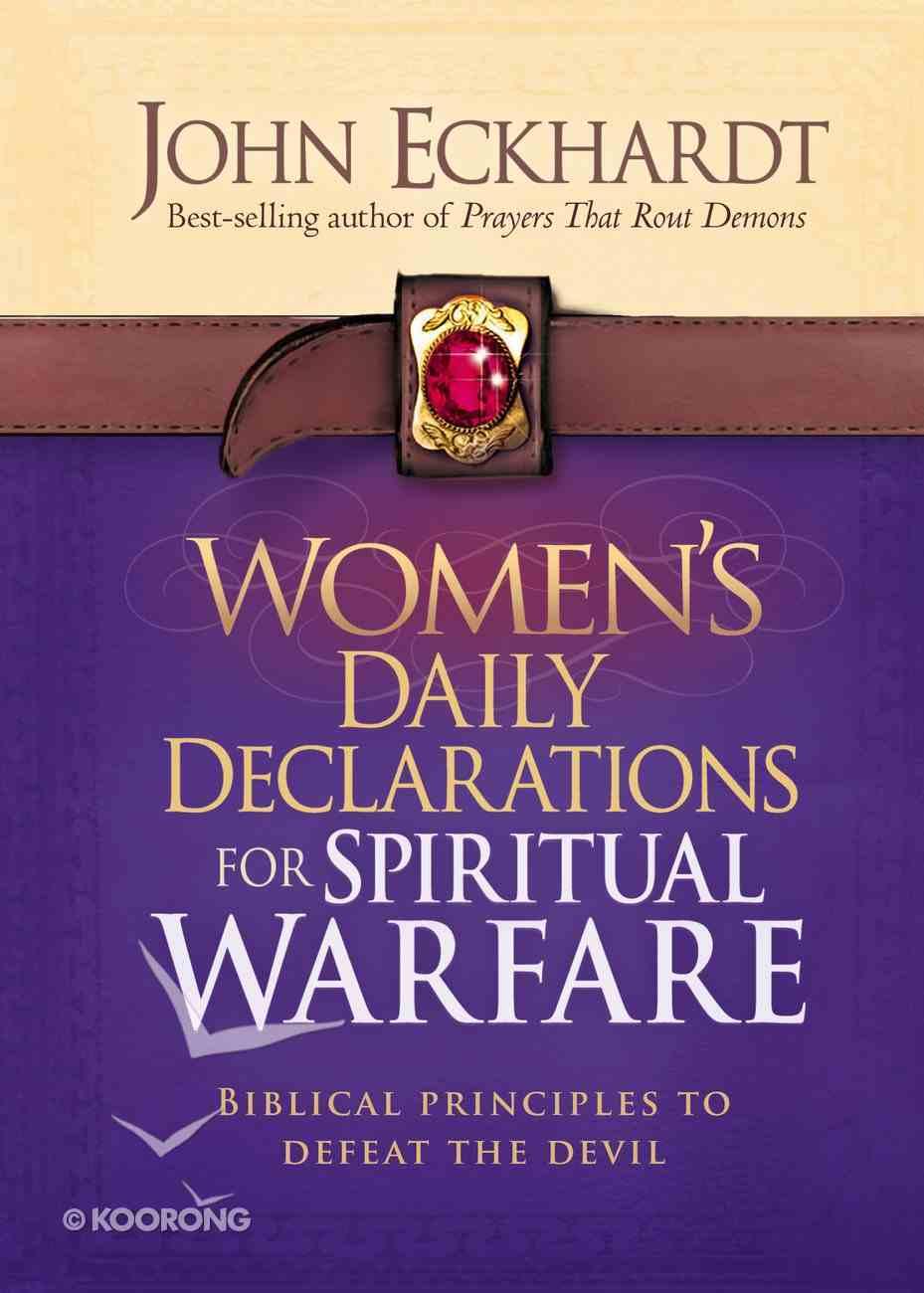 Women's Daily Declarations For Spiritual Warfare Hardback