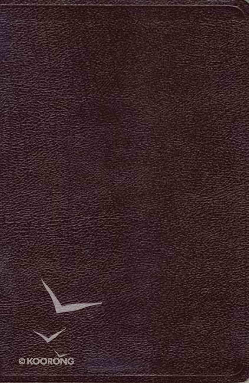 NKJV Giant Print Center-Column Reference Bible Burgundy Bonded Leather