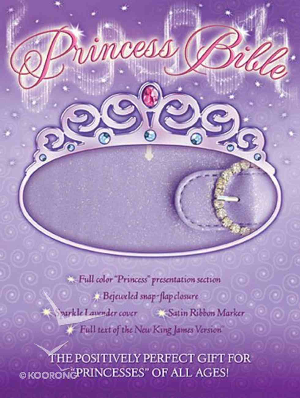 NKJV Princess Bible Lavender With Magnetic Closure Premium Imitation Leather