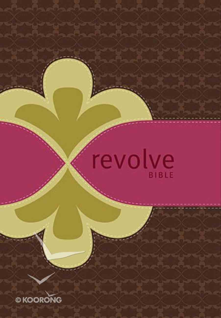 Ncv Revolve Bible Chocolate/Raspberry/Biscuit Premium Imitation Leather