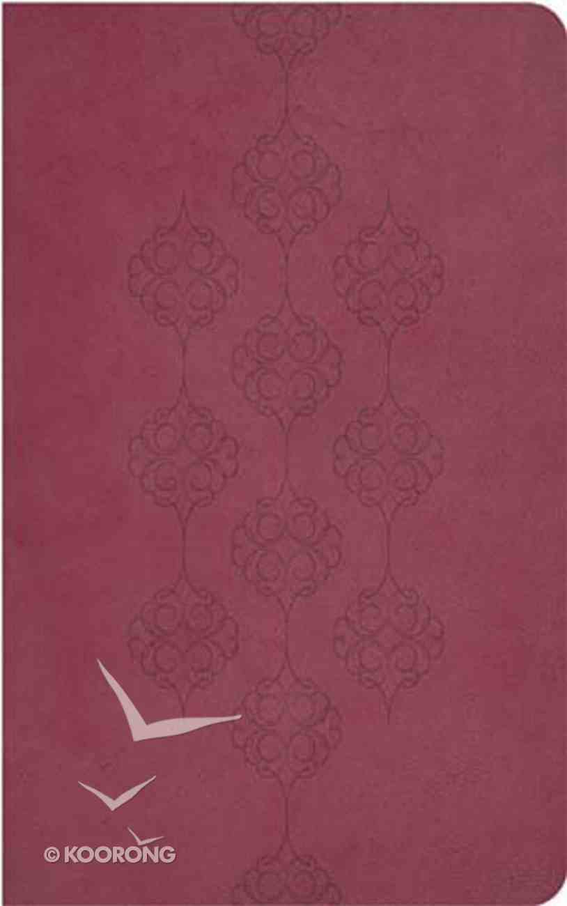 KJV Giant Print Center-Column Reference Bible Cranberry Imitation Leather