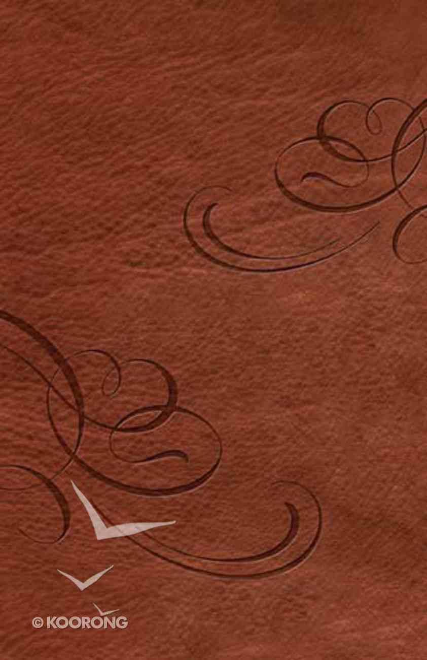 NKJV Jesus Calling Devotional Bible Chocolate Premium Imitation Leather