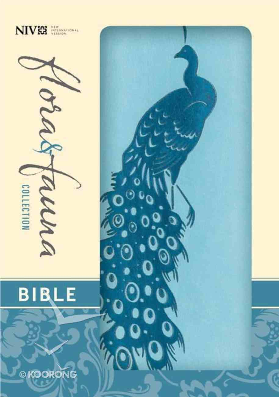 NIV Compact Thinline Bible Flora and Fauna Turquoise Teal (Red Letter Edition) Imitation Leather