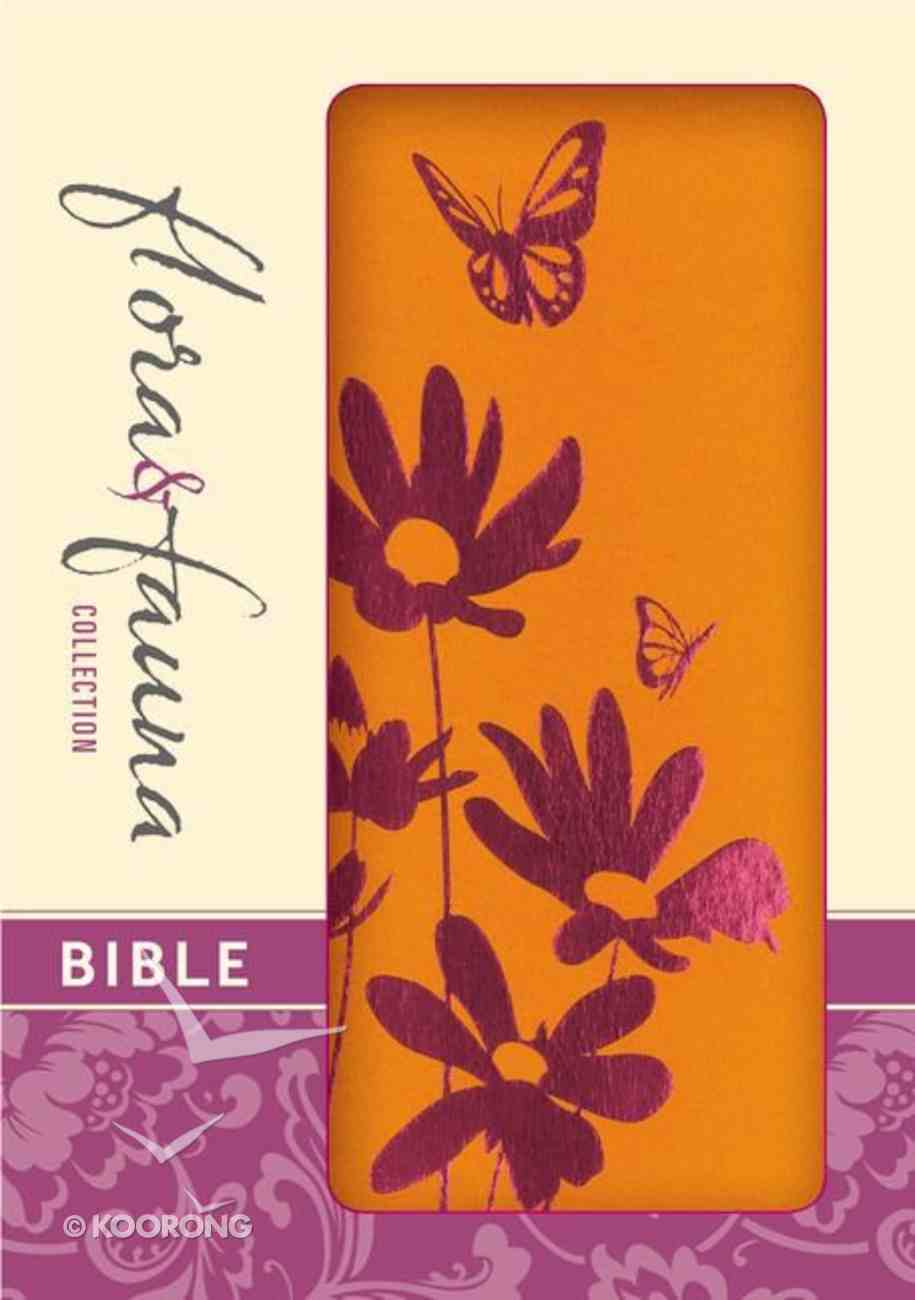 NIV Compact Thinline Bible Flora and Fauna Tangerine Magenta (Red Letter Edition) Imitation Leather