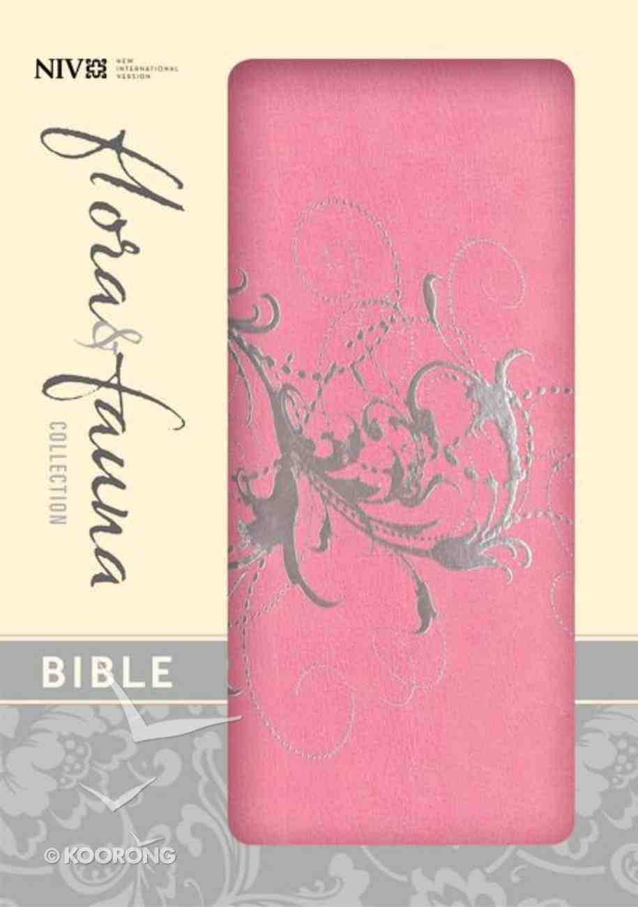 NIV Compact Thinline Bible Flora and Fauna Orchid Silver (Red Letter Edition) Imitation Leather