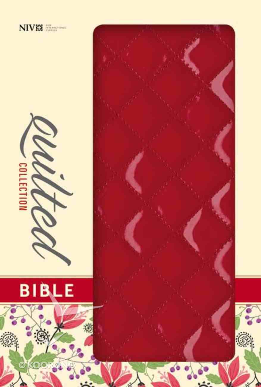 NIV Thinline Bible Quilted Cherry (Red Letter Edition) Imitation Leather