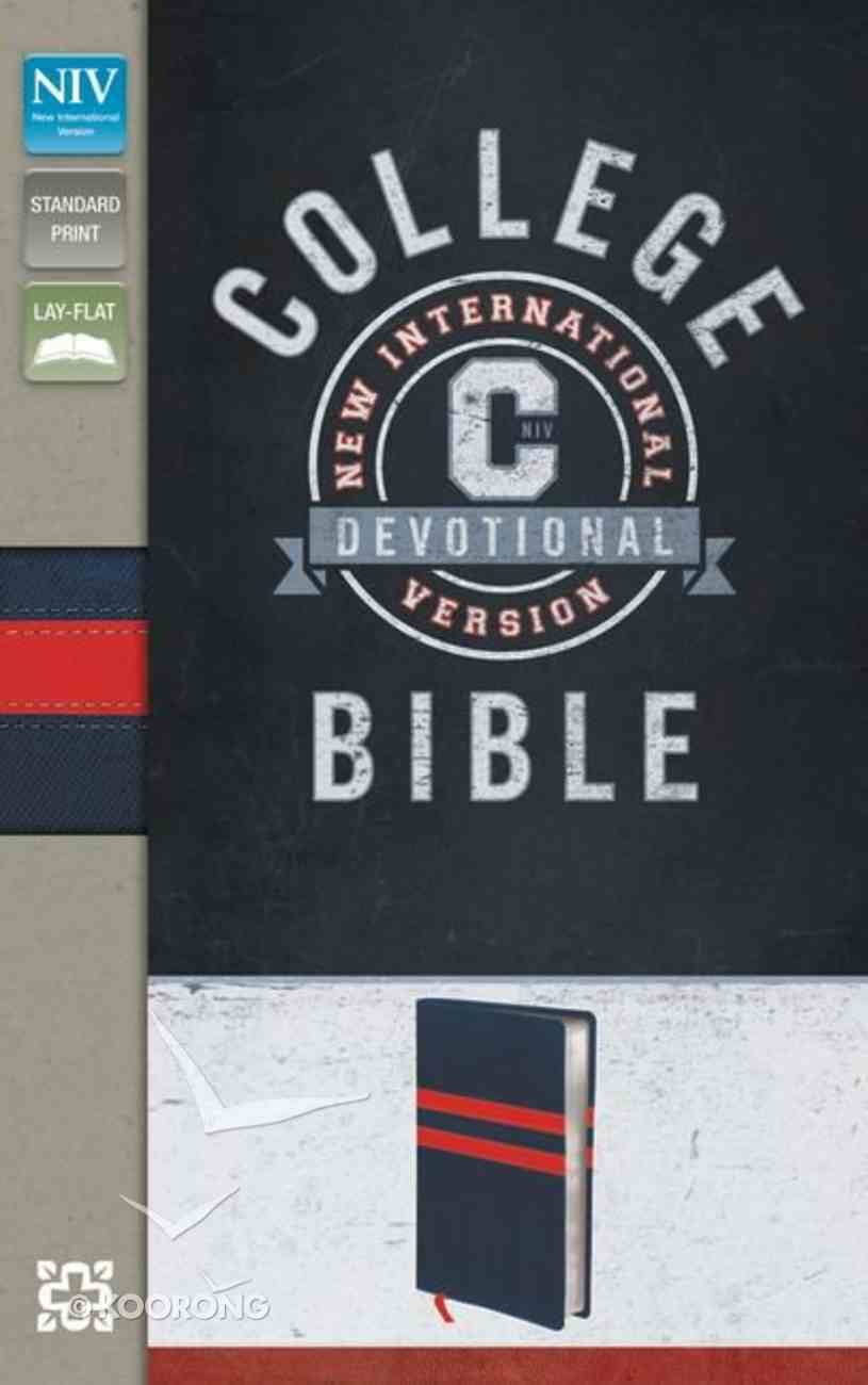 NIV College Devotional Bible Navy/Red (Black Letter Edition) Premium Imitation Leather