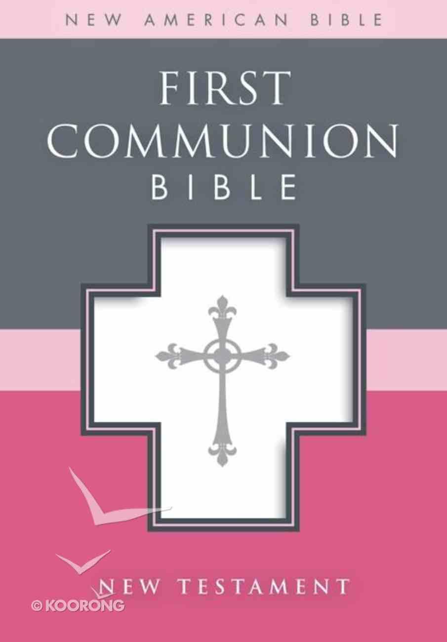 Nab First Communion Bible New Testament White Imitation Leather