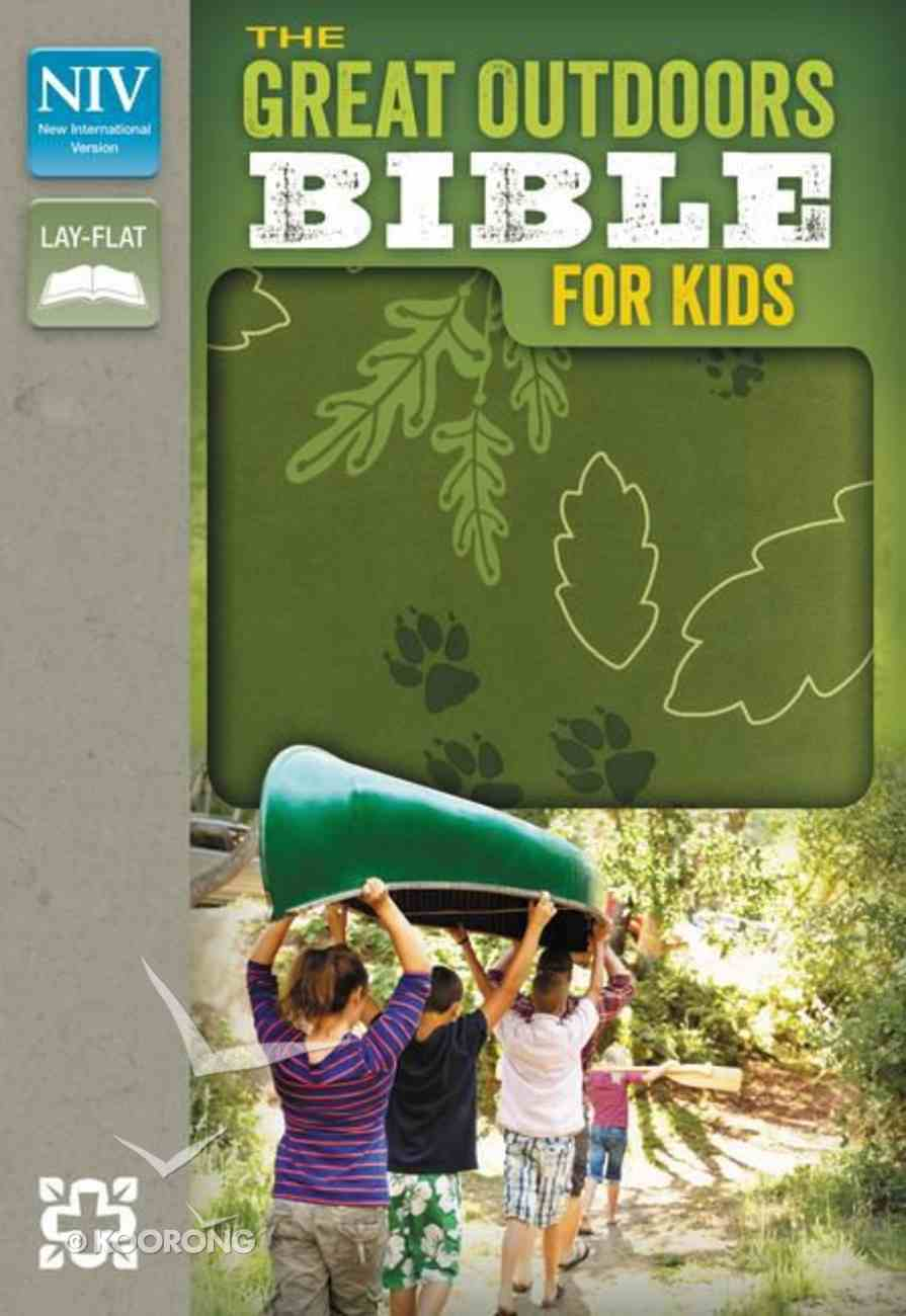 NIV Great Outdoors Bible For Kids Leaf Green (Red Letter Edition) Imitation Leather