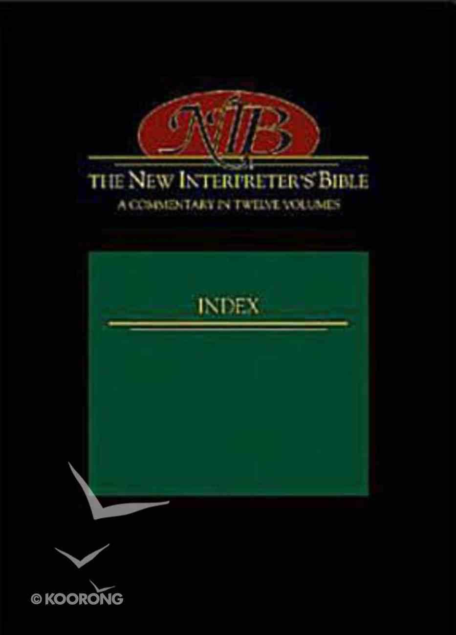 The New Interpreter's Bible Index Hardback