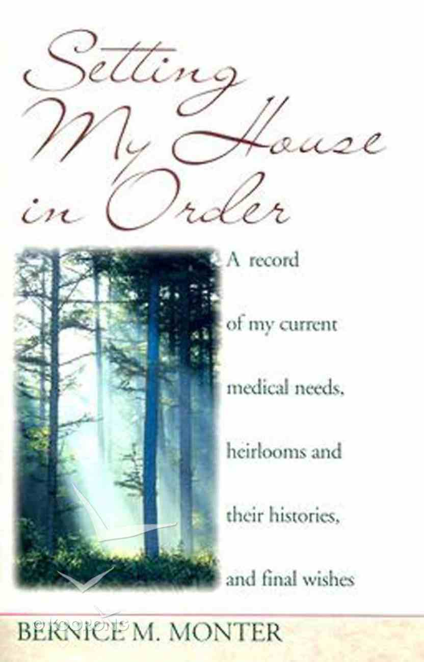Setting My House in Order Paperback