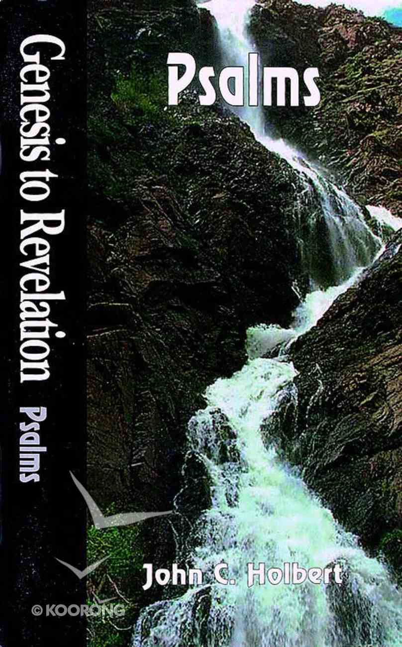 Psalms (Student Book) (Genesis To Revelation Series) Paperback