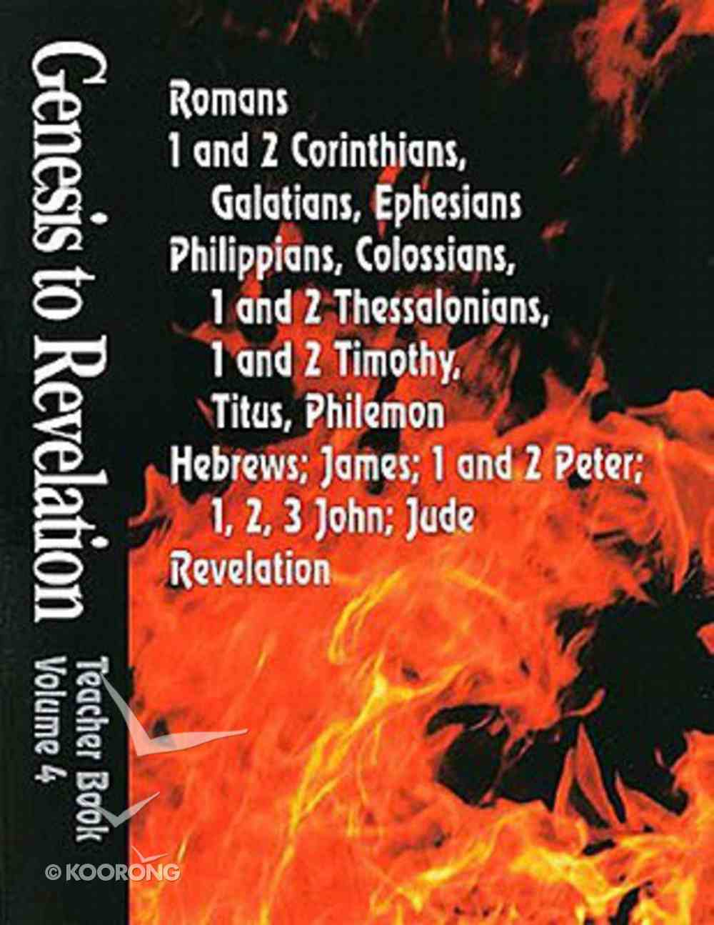 Romans-Revelation (Leader's Guide) (Genesis To Revelation Series) Paperback