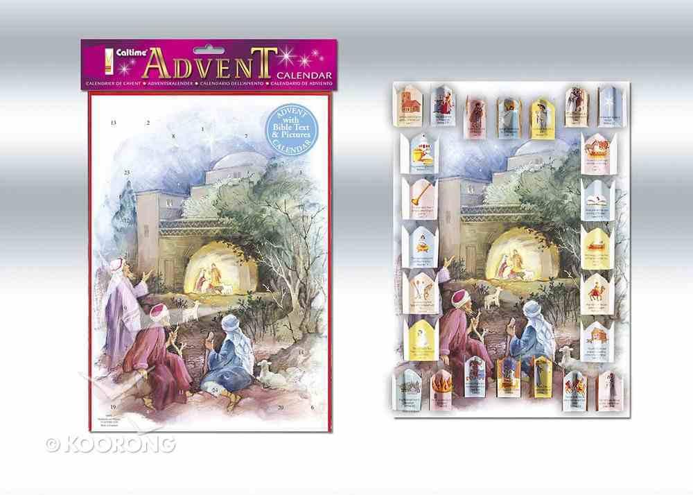 Advent Calendar: Shepherds and Manger (With Bible Text) Calendar