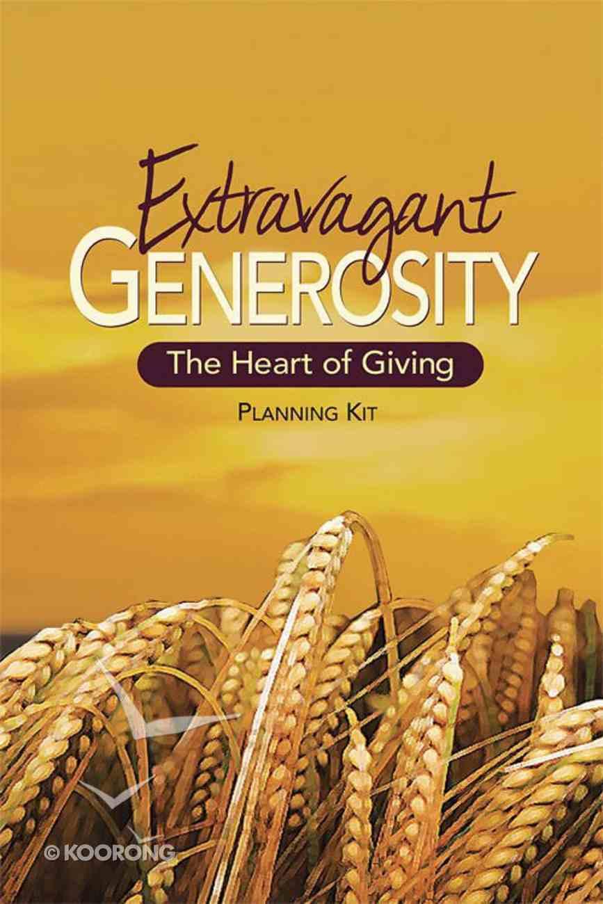 Extravagant Generosity Kit (Dvd, Leader Guide, Planning Timetable) Pack