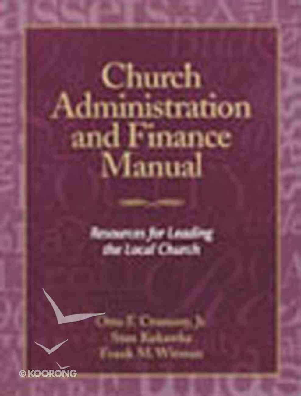 Church Administration and Finance Manual Paperback