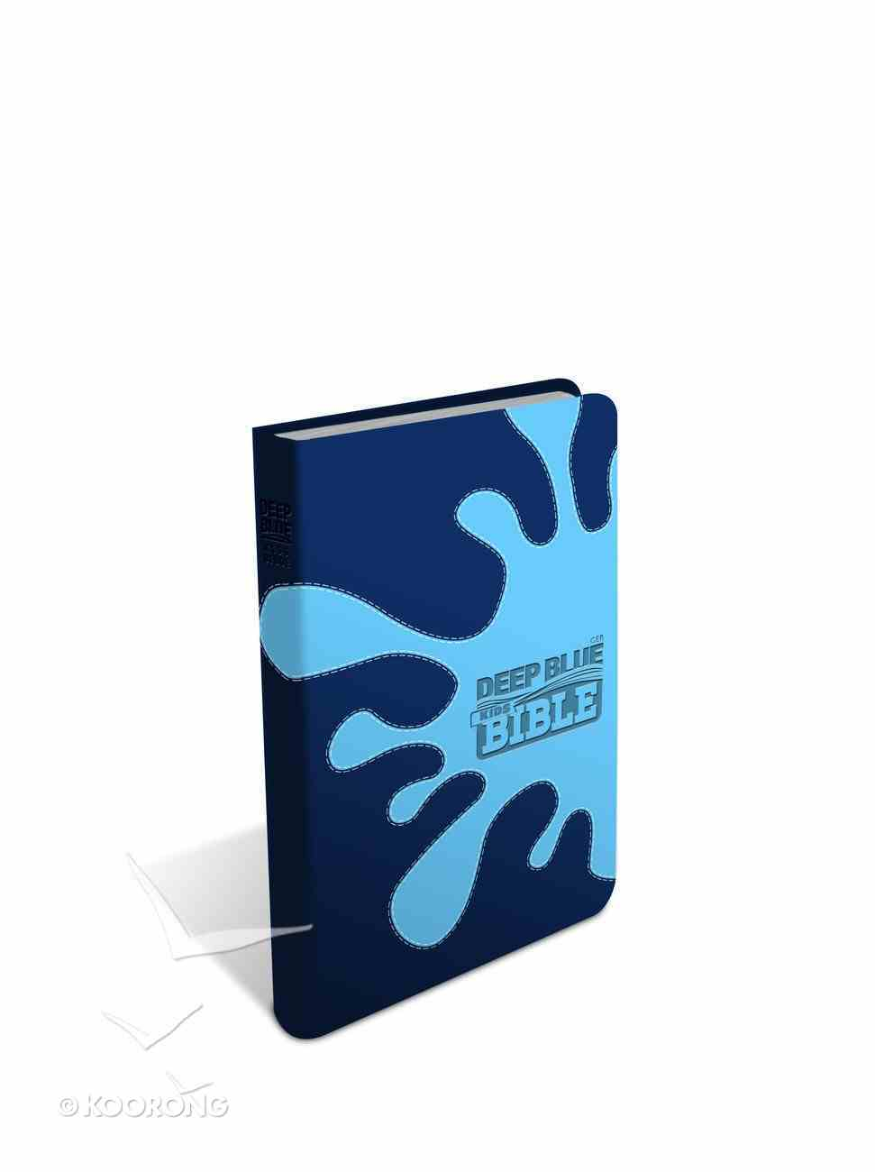 Ceb Deep Blue Kids Bible Midnight Splash Deco Tone Imitation Leather