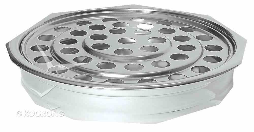 "Communion Tray: Plain Polished Aluminium (Rw-500pp) (12"") Church Supplies"