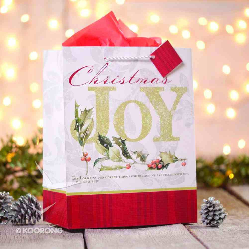 Christmas Gift Bag Large: Marjolein Bastin Joy (Psalm 126:3 Niv) Stationery