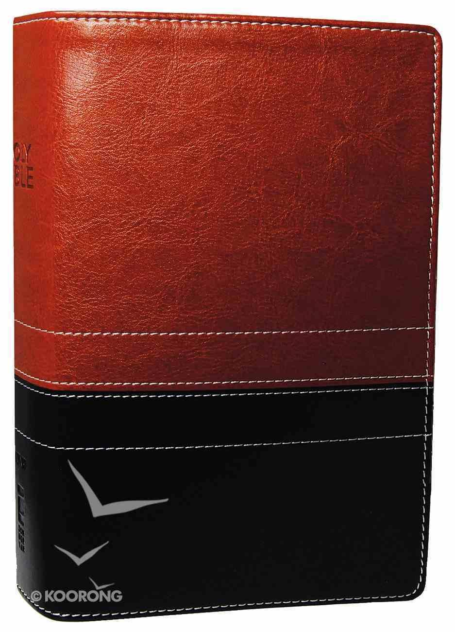 NIV Compact Giant Print Black/Sierra (Black Letter Edition) Premium Imitation Leather