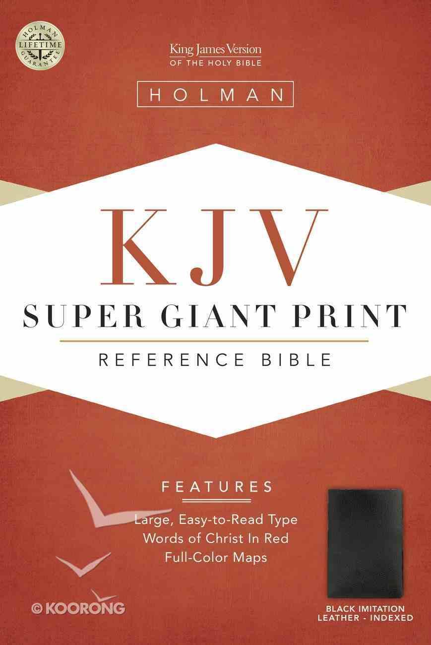 KJV Super Giant Print Reference Black Indexed (Red Letter Edition) Imitation Leather