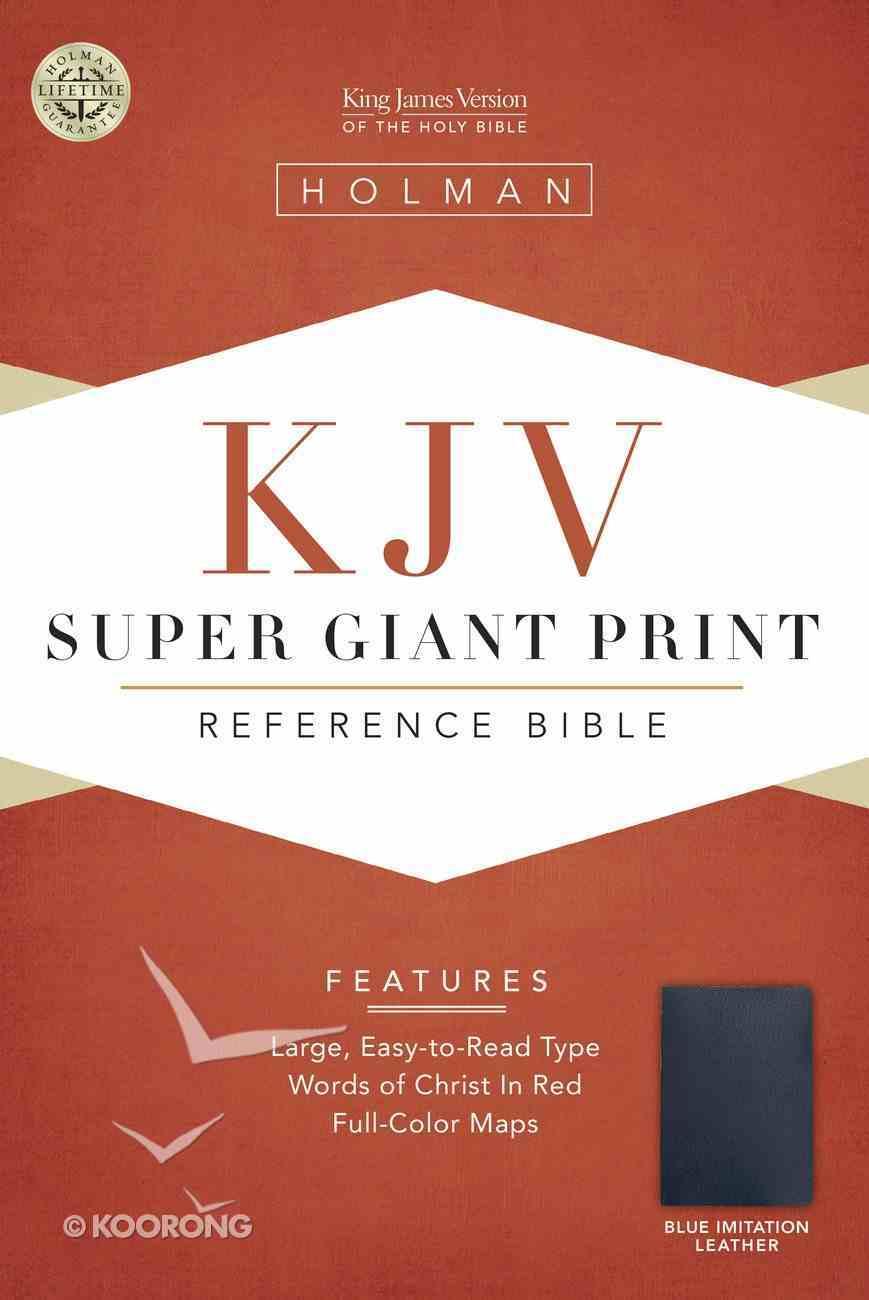 KJV Super Giant Print Reference Blue (Red Letter Edition) Imitation Leather