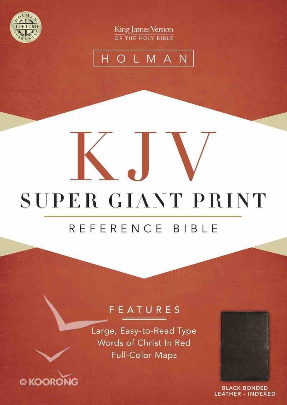 KJV Super Giant Print Reference Black Indexed (Red Letter Edition) Bonded Leather