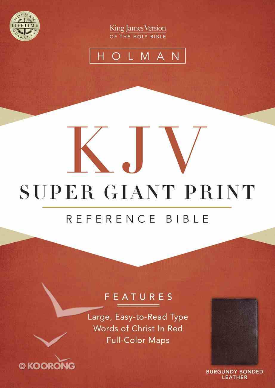 KJV Super Giant Print Reference Burgundy (Red Letter Edition) Bonded Leather