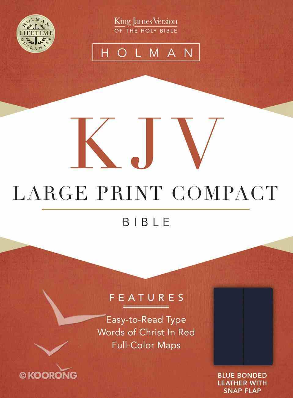 KJV Cornerstone Large Print Compact Blue Flap (Red Letter Edition) Bonded Leather