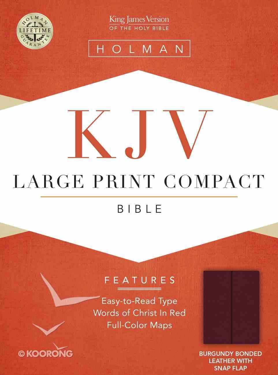 KJV Cornerstone Large Print Compact Burgundy Flap (Red Letter Edition) Bonded Leather
