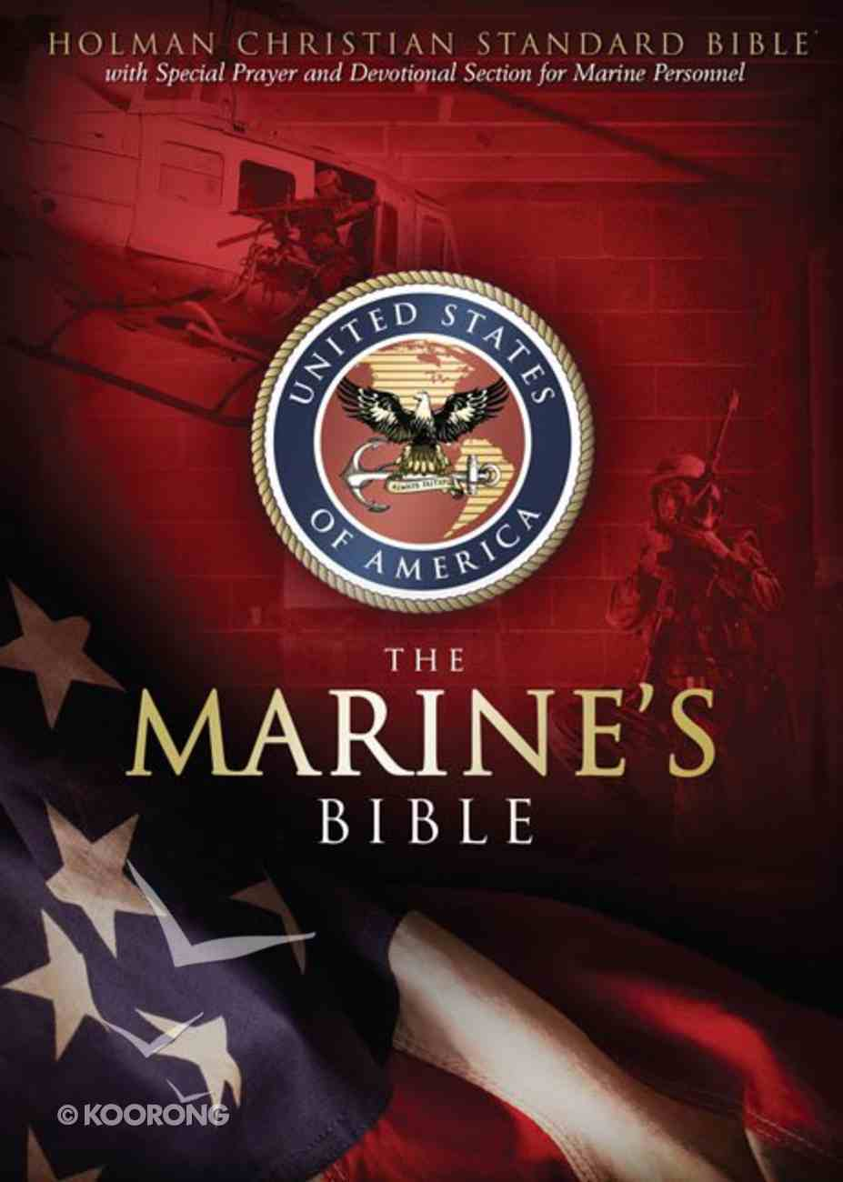 HCSB Marine's Bible With Slide Tab Bonded Leather