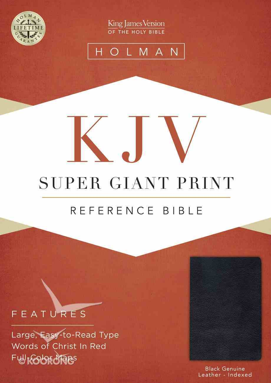 KJV Holman Super Giant Print Reference Black Indexed (Red Letter Edition) Genuine Leather