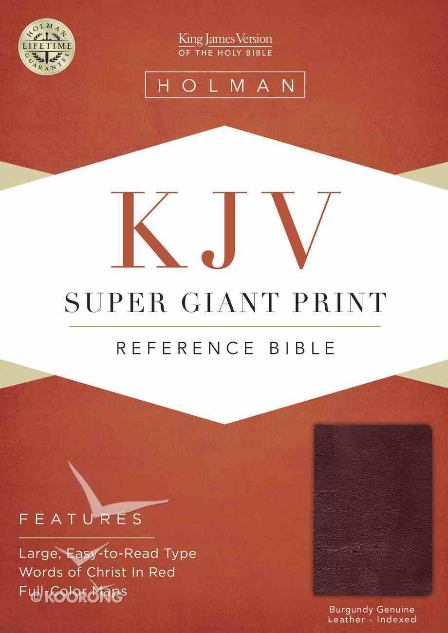 KJV Holman Super Giant Print Reference Burgundy Indexed (Red Letter Edition) Genuine Leather