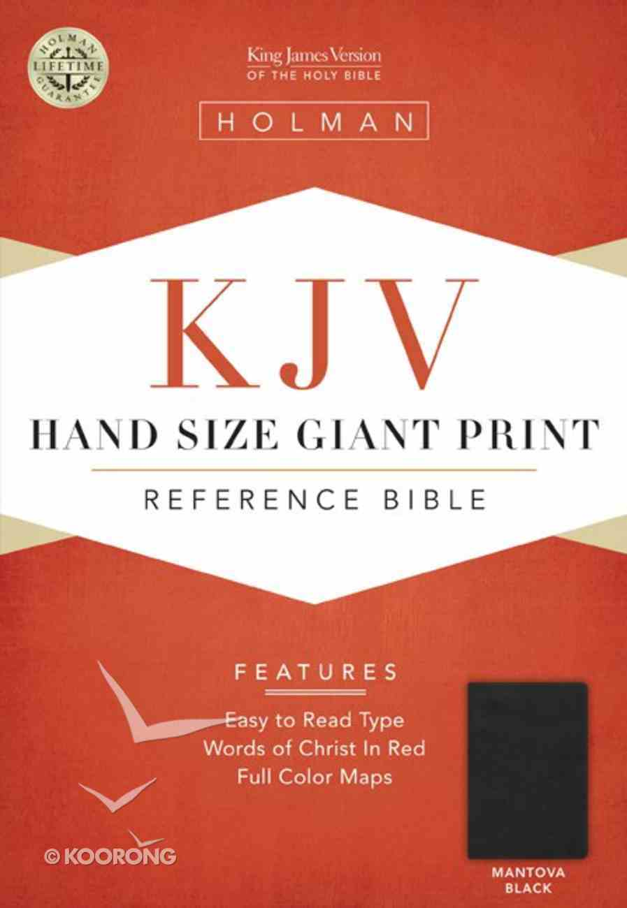 KJV Hand Size Large Print Reference Bible Mantova Black Simulated Leather (Indexed) Imitation Leather