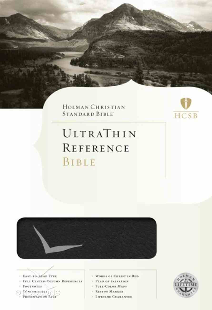 HCSB Ultrathin Reference Bible Mantova Black Simulated Leather Imitation Leather