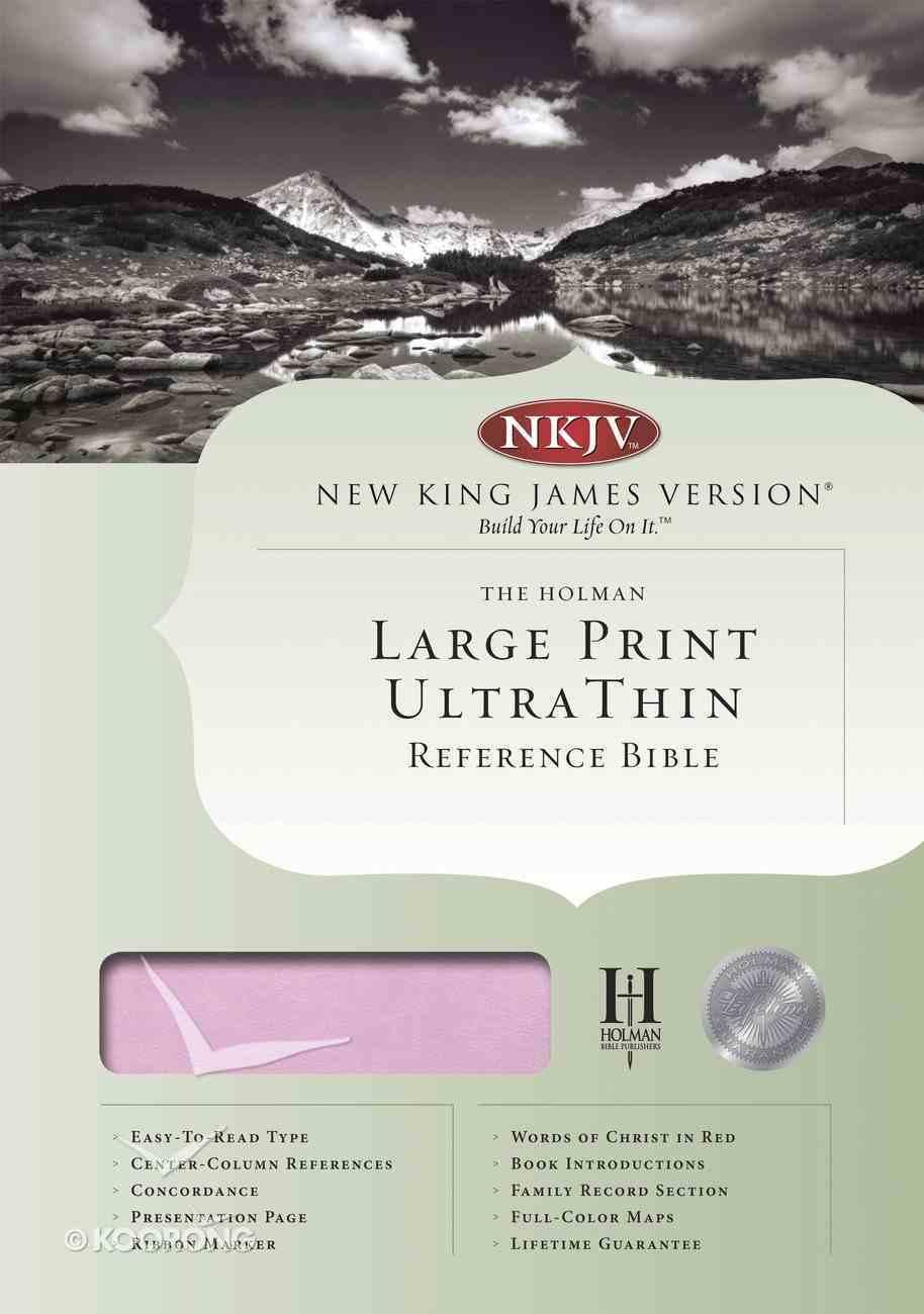 NKJV Large Print Ultrathin Reference Indexed Bible Pink/Brown Imitation Leather