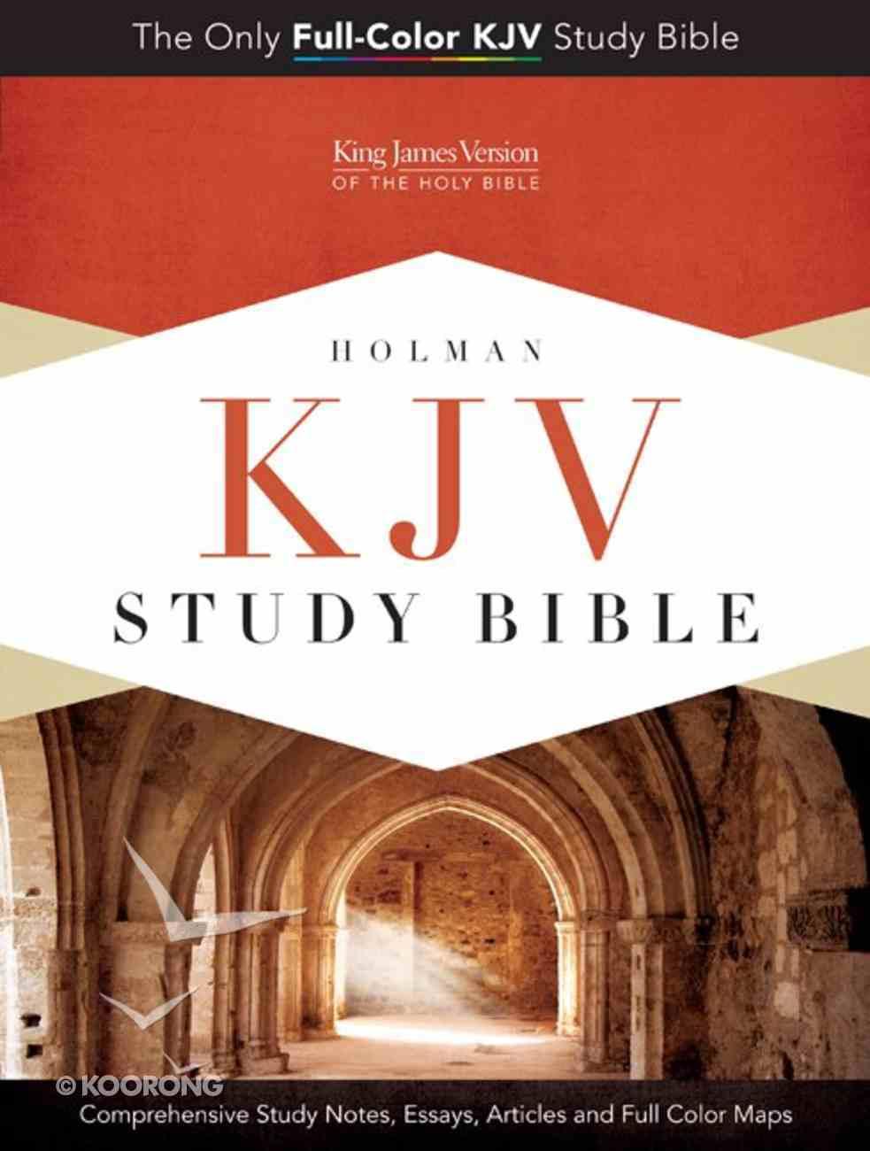 KJV Study Bible Pink/Brown Indexed Imitation Leather