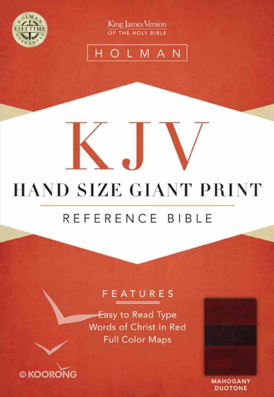 KJV Hand Size Giant Print Reference Bible Mahogany Duotone Simulated Leather (Indexed) Imitation Leather