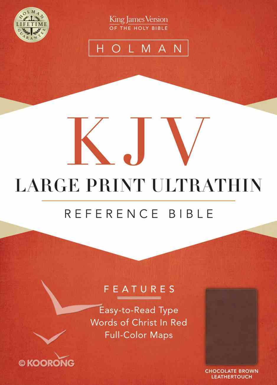 KJV Large Print Ultrathin Reference Bible Chocolate/Brown Leathertouch Imitation Leather