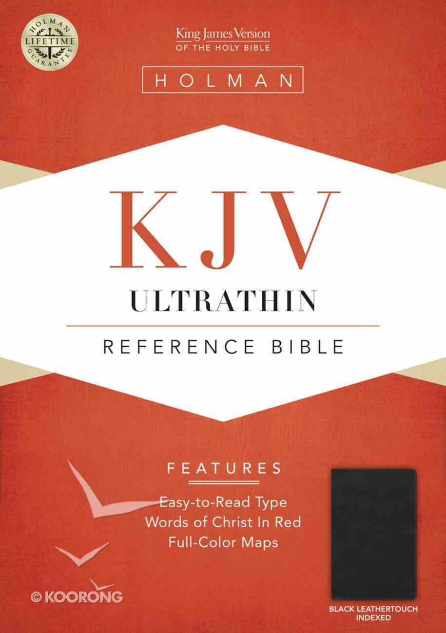 KJV Ultrathin Reference Bible Black Leathertouch (Indexed) Imitation Leather