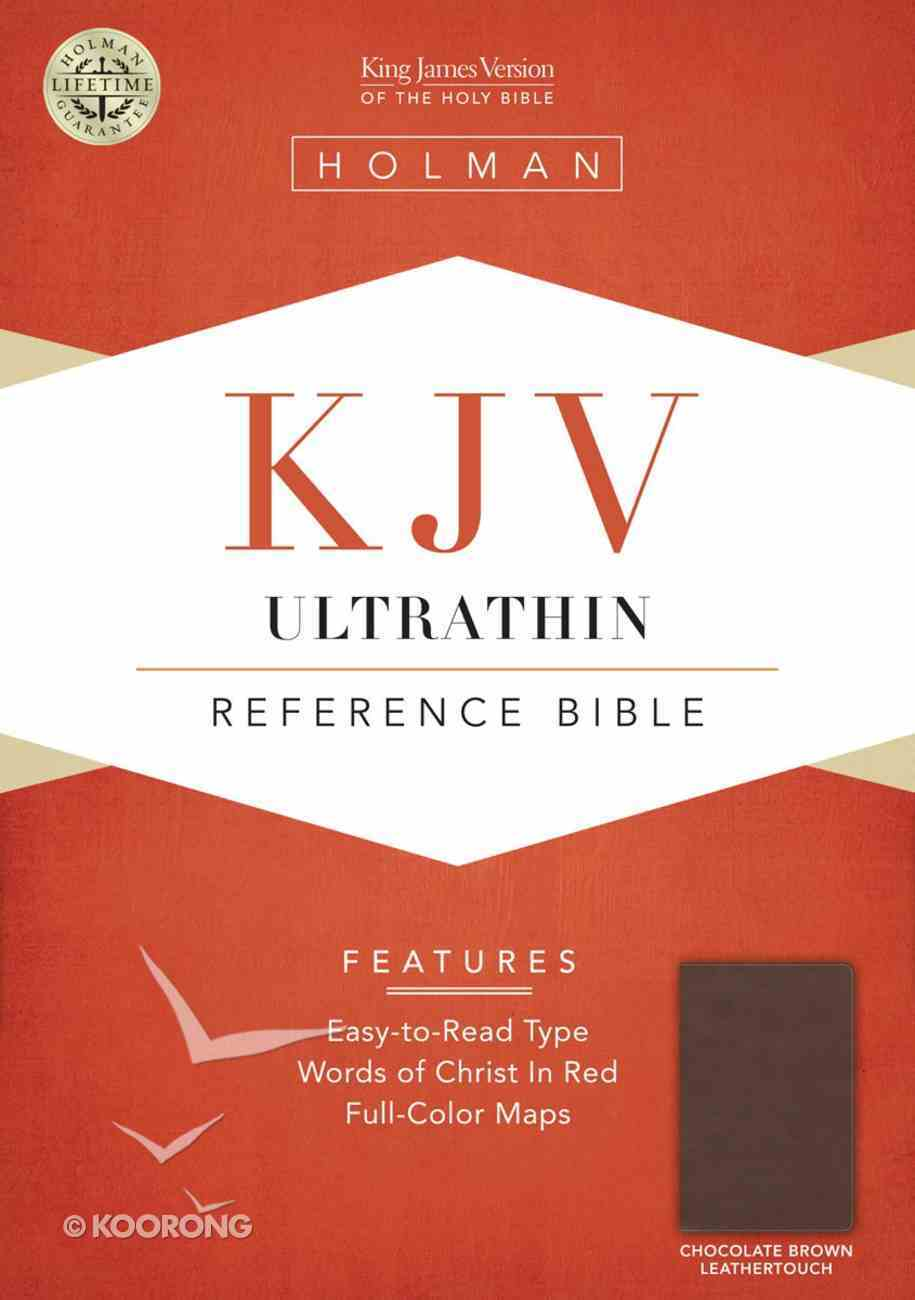 KJV Ultrathin Reference Bible Brown Leathertouch Imitation Leather