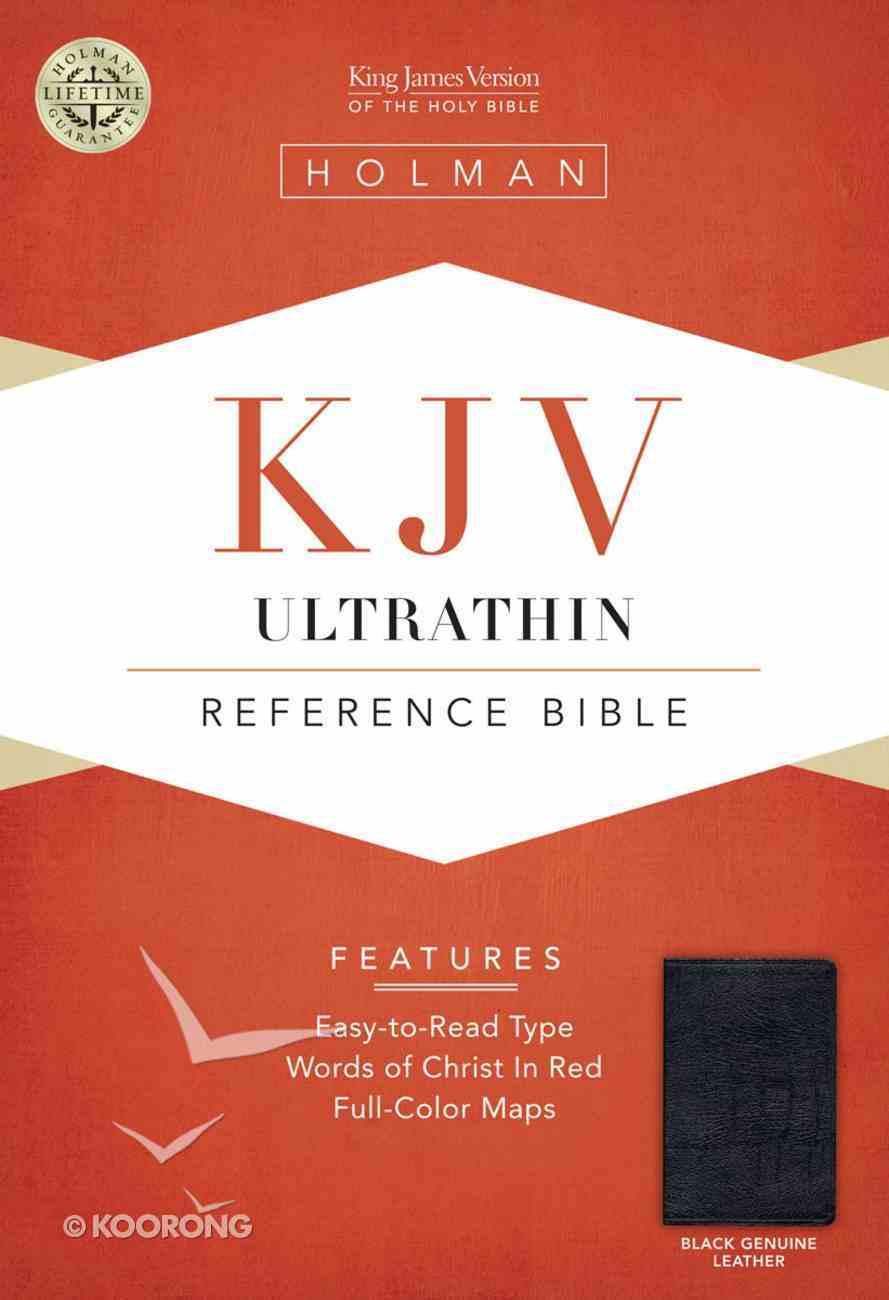 KJV Ultrathin Reference Bible Black Genuine Leather Genuine Leather