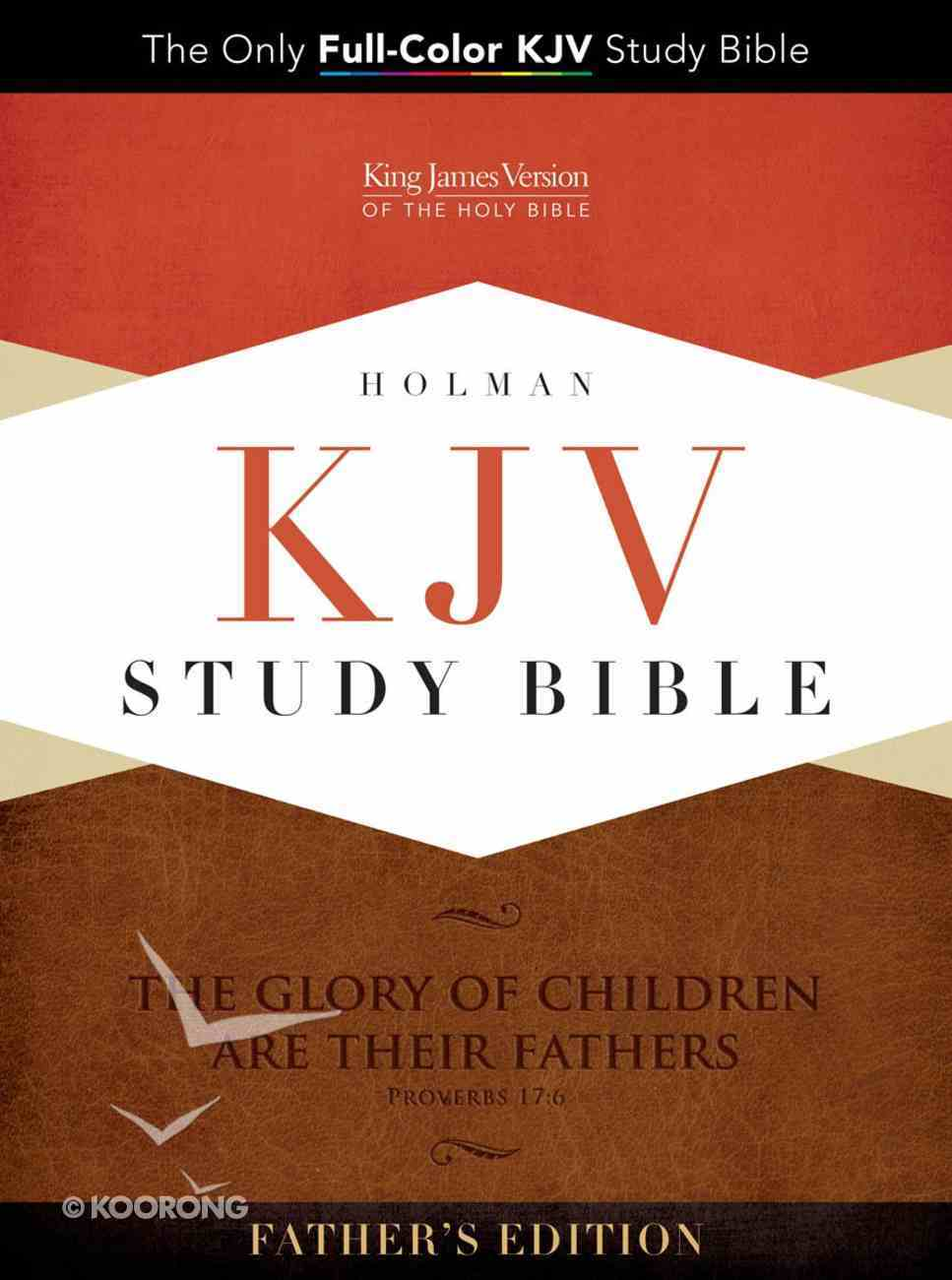KJV Study Bible Father's Edition Black/Tan Imitation Leather