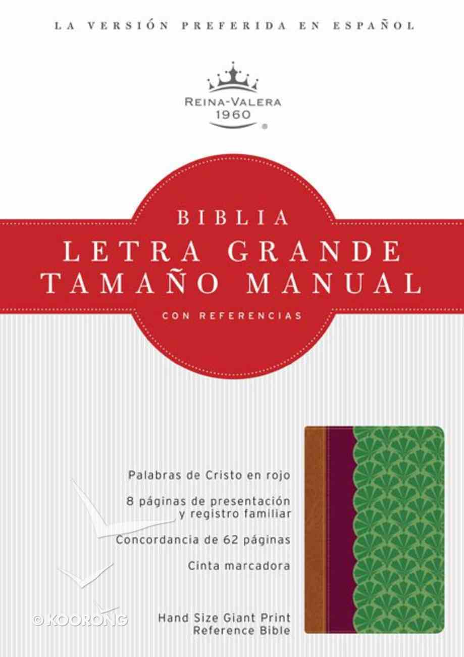Rvr 1960 Biblia Letra Grande Tamano Manual Con Referencias (Giant Print Chocolate/plum/jade) Imitation Leather