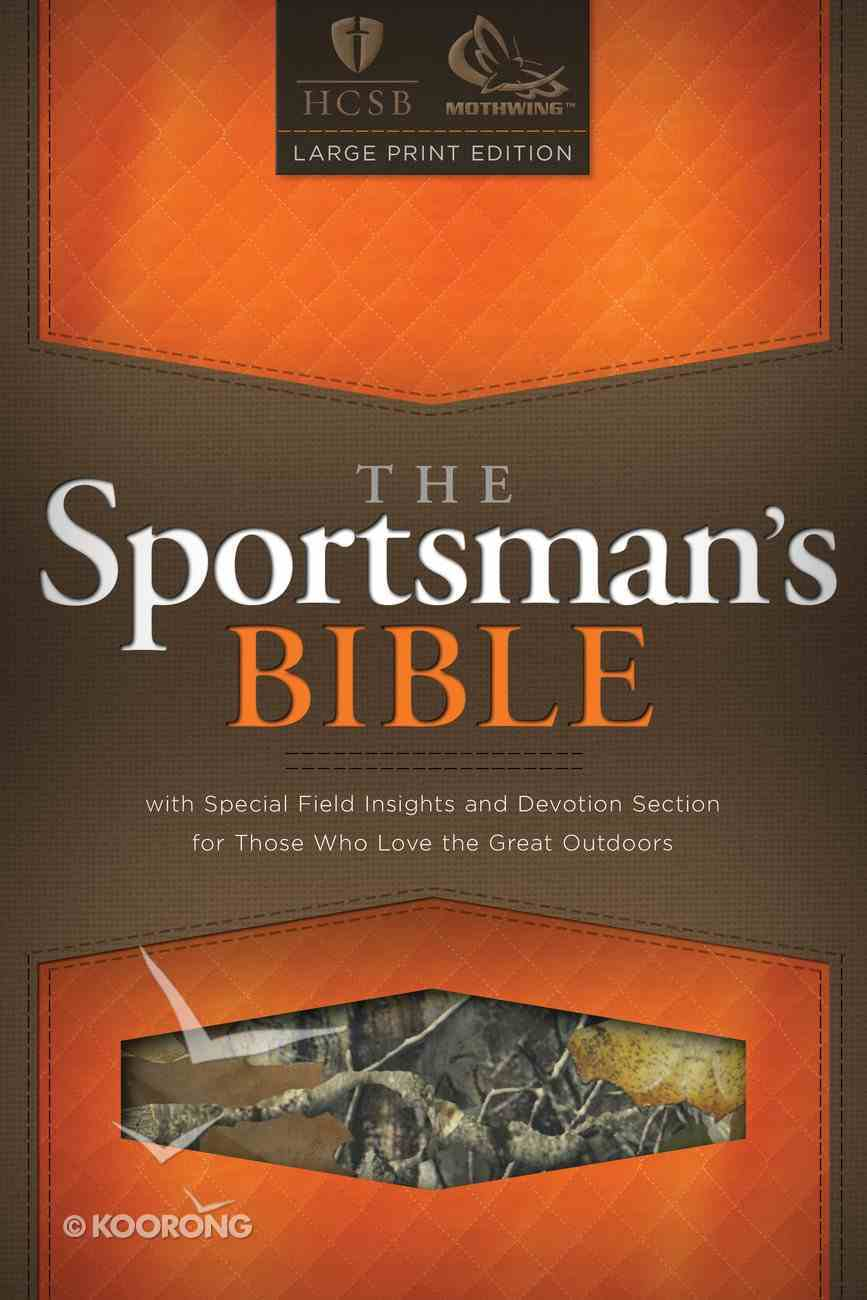 Hscb Large Print Sportsman's Bible (Mothwing Camouflage) Imitation Leather